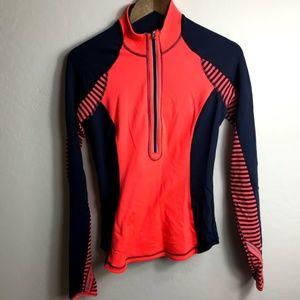 Lululemon Orange and Navy 1/2 Zip Jacket Size 6
